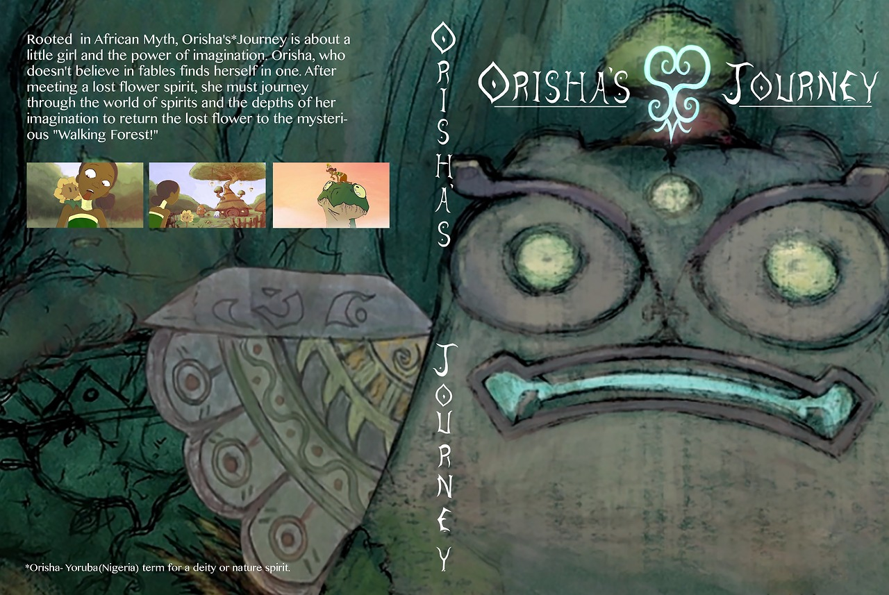 DVD cover I designed for my animation thesis Orisha's Journey which is based on African folklore. I'm currently submitting my film to as many film festivals as I can. Thank you for your time!:)
